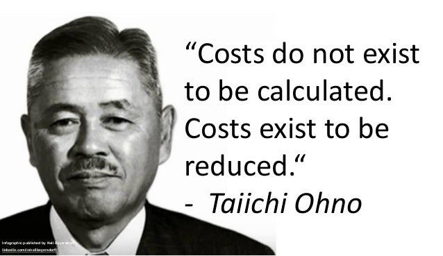 """Infographic published by Neil Beyersdorf linkedin.com/in/neilbeyersdorf/ """"Costs do not exist to be calculated. Costs exist..."""