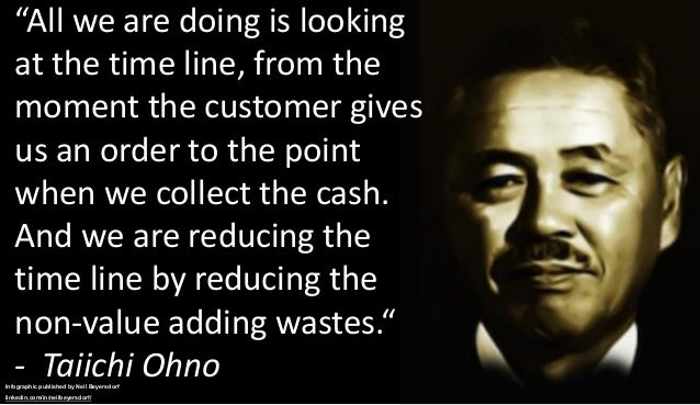 """""""All we are doing is looking at the time line, from the moment the customer gives us an order to the point when we collect..."""
