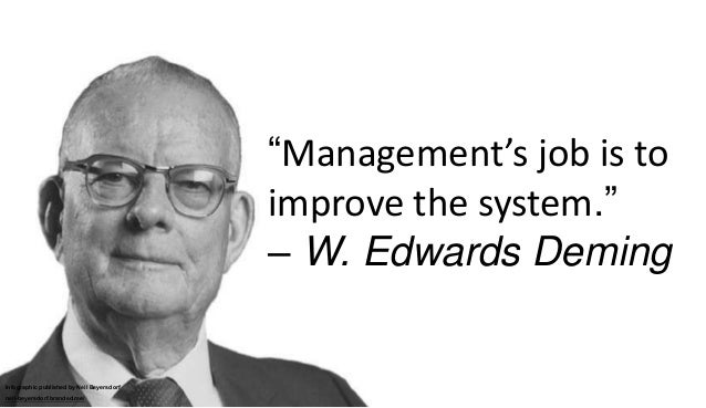 deming s 85 15 rule Quality issues old or new nowadays juran and deming's reaction to taylor and ford as a rule of thumb, 85% of the problems can be corrected by changing the system, less than 15% are under the worker's control the pareto principle.
