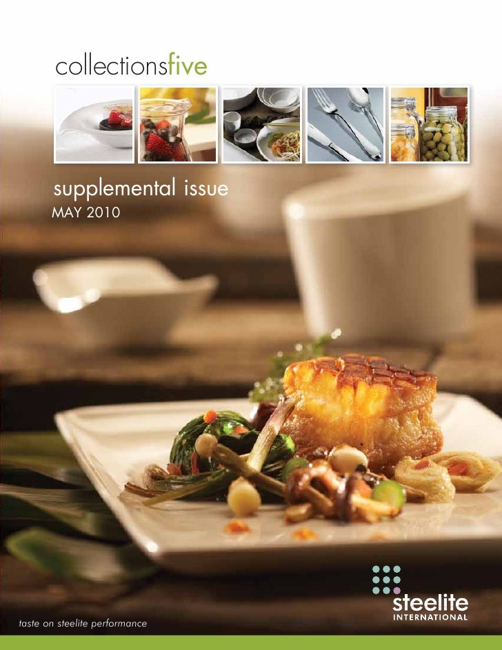 collectionsfive           supplemental issue        MAY 2010     taste on steelite performance