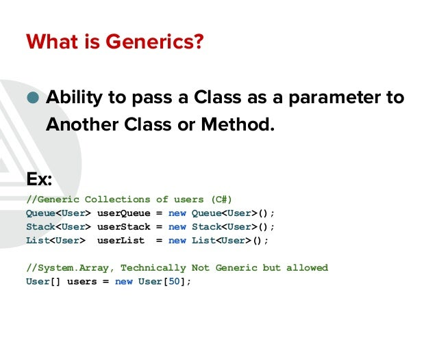 Collections and generics Slide 3
