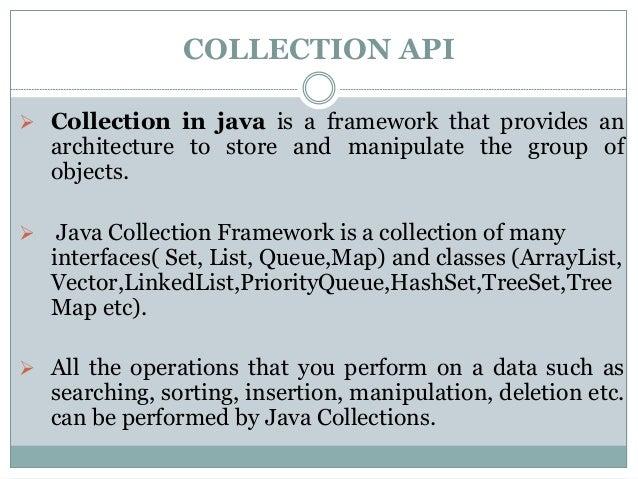 Collections Api - Java Slide 2