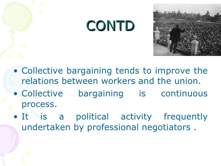 Characteristics of collective bargaining industries