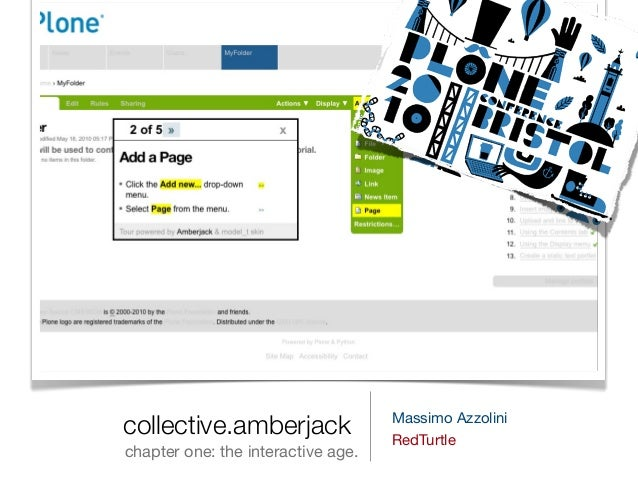 collective.amberjack chapter one: the interactive age. Massimo Azzolini RedTurtle