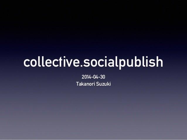 collective.socialpublish 2014-04-30 Takanori Suzuki