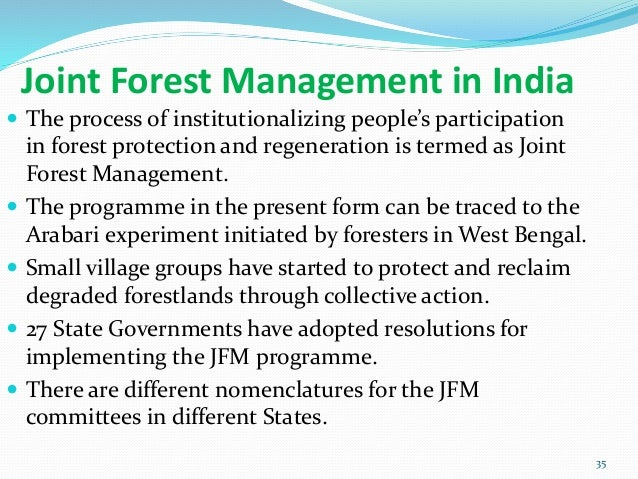 joint forest management a review