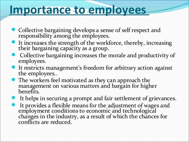 importance of collective bargaining to employees