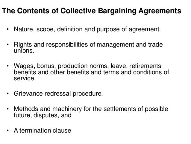 key elements of the collective bargaining agreement Collective bargaining a national agreement sets the key elements of pay and conditions every two years and this agreement itself is tightly constrained by legislation limiting pay increases to forecast pay costs in belgium's neighbours with automatic pay indexation linked to inflation, negotiators have only limited room for manoeuvre.