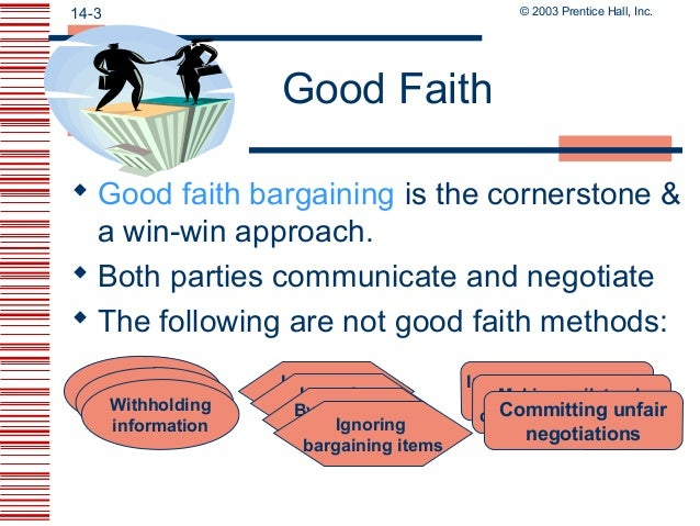 good faith bargaining Good faith – is there a new implied duty in english contract law background english law does not currently recognise a universal implied duty.