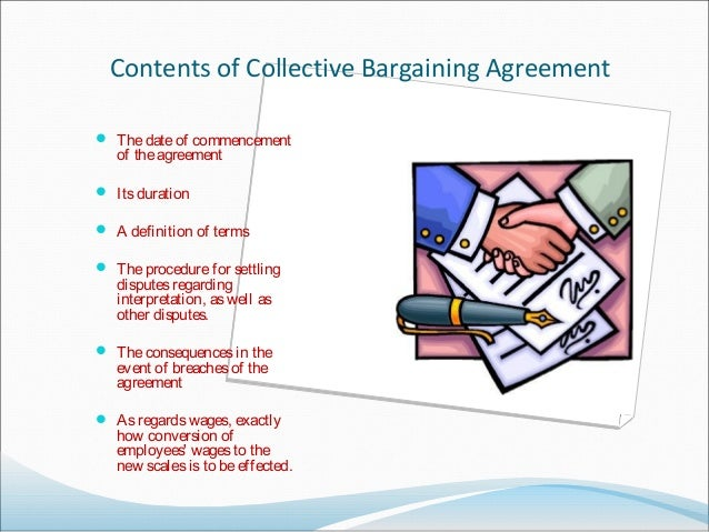 Contents Of Collective Bargaining Agreement Image Collections