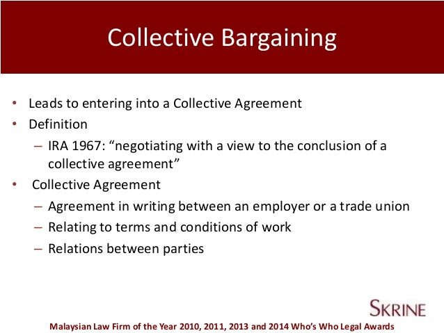 Define the term collective bargaining