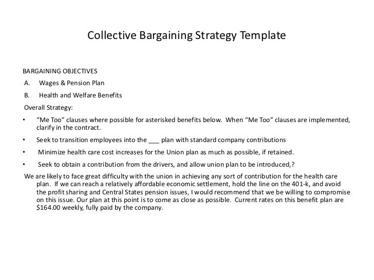 Charmant Collective Bargaining Strategy TemplateBARGAINING ...
