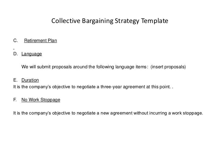 Collective Bargaining Strategy TemplateC.