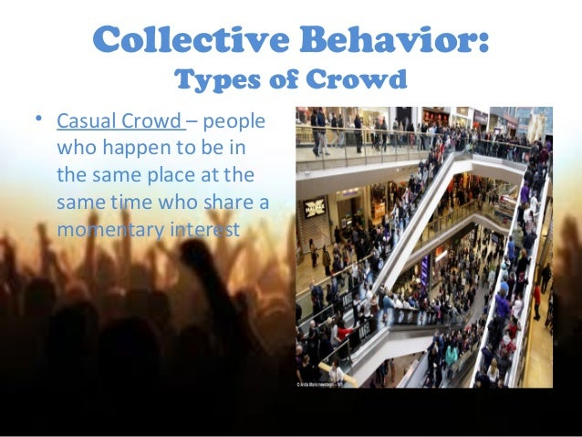 """collective behavior Collective behavior can be observed in many forms in the view of sociologist neil smelser, """"collective behavior is the relatively spontaneous and unstructured ."""