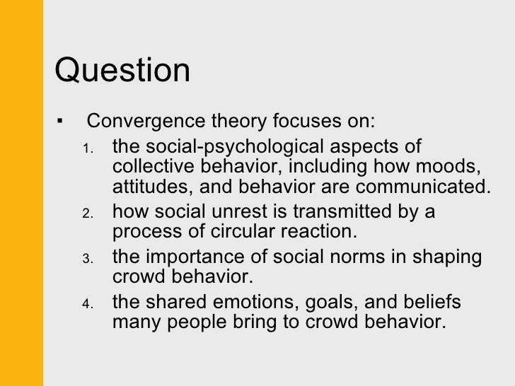 definitions of collective behavior and social movement Definition: a social movement is a sustained, organized collective effort that focuses on some aspect of social changethey tend to persist over time more than other forms of collective behavior.