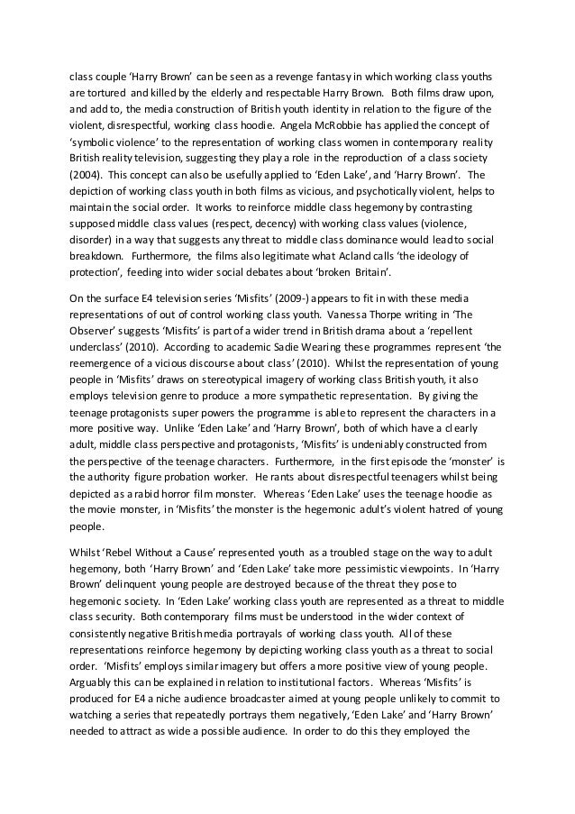 collective identity essay  middle 3 class