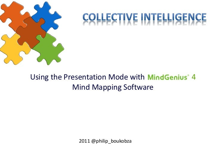 Using the Presentation Mode with     4            Mind Mapping Software             2011 @philip_boukobza