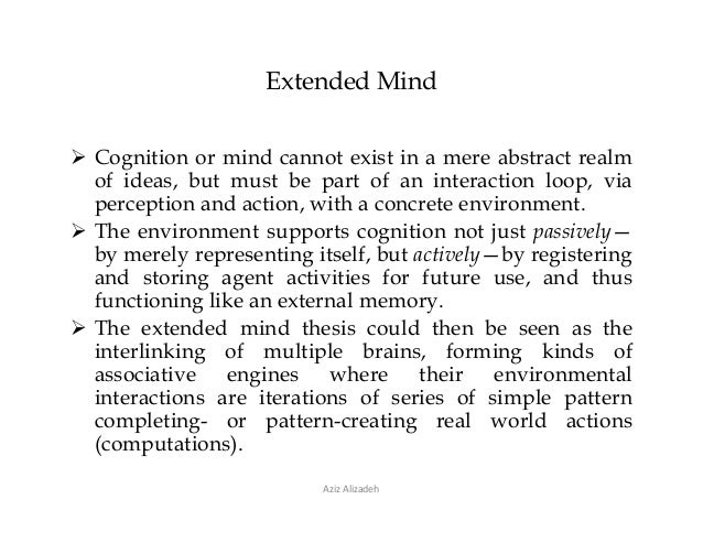 extended mind thesis