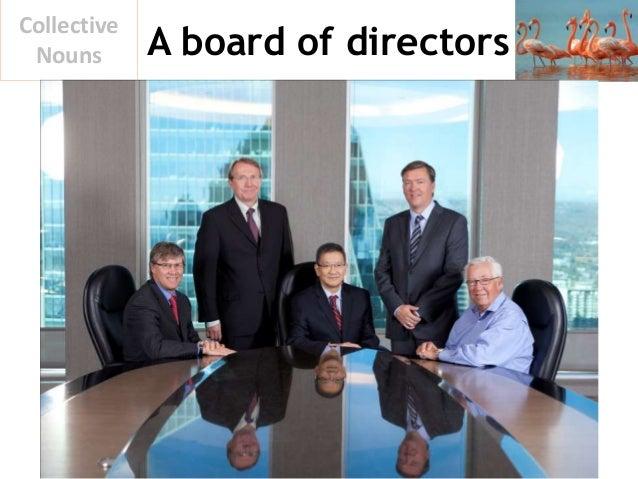 A board of directors Collective Nouns