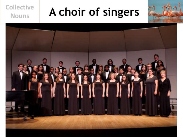 A choir of singers Collective Nouns