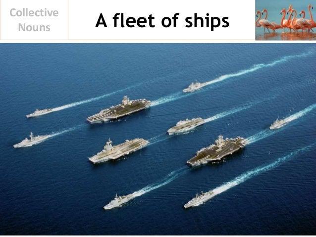 A fleet of ships Collective Nouns