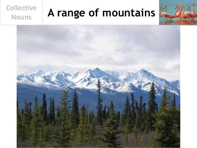 A range of mountains Collective Nouns