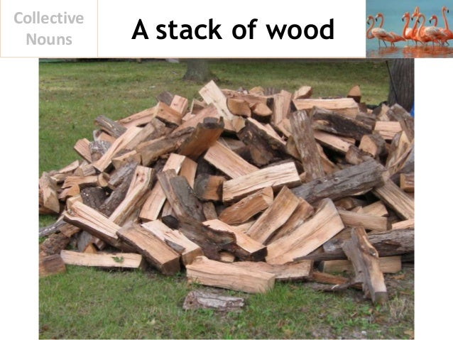 A stack of wood Collective Nouns