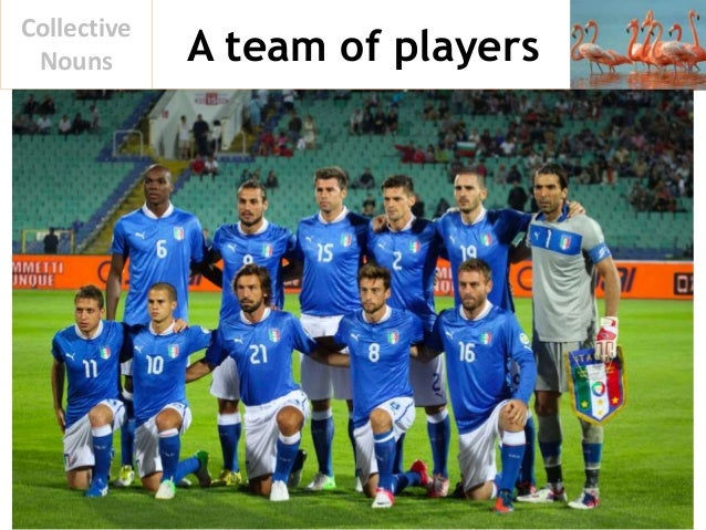 A team of players Collective Nouns