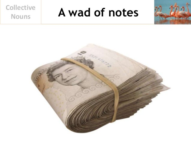 A wad of notes Collective Nouns