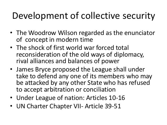 Collective security Slide 2