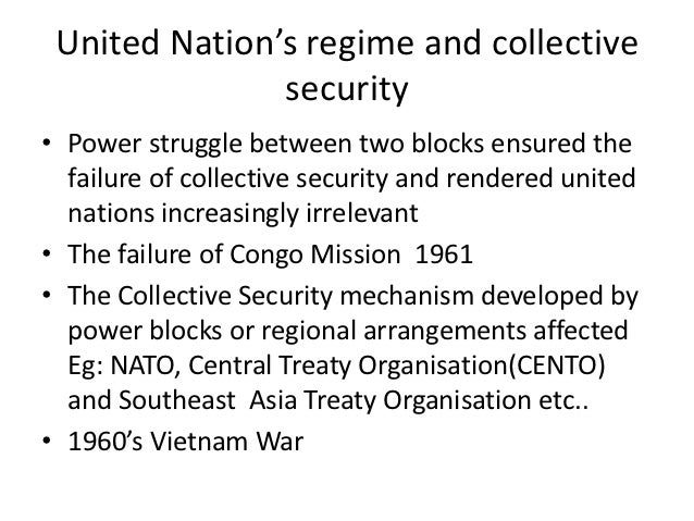 failure of collective security Free essay: weaknesses and failure of the league of the nations the onset  [ 11] the collective security system the league used meant that.