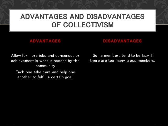 pros and cons of individualism and collectivism