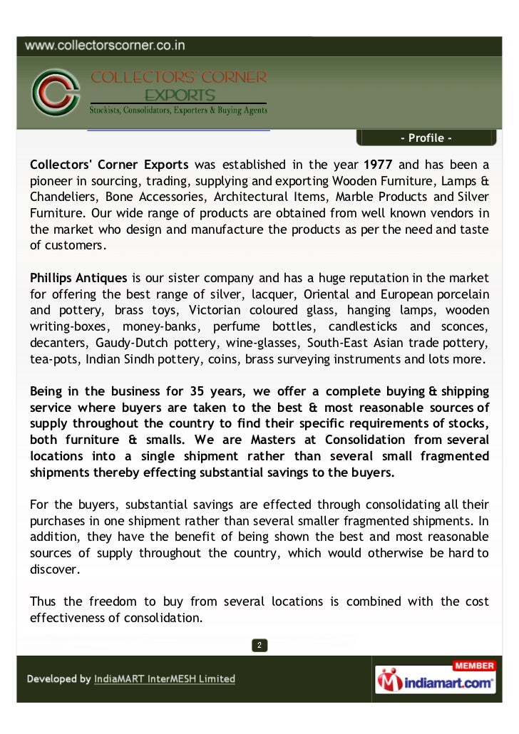 Collectors Corner Exports, Mumbai, Wooden and Other Decorative Products Slide 2