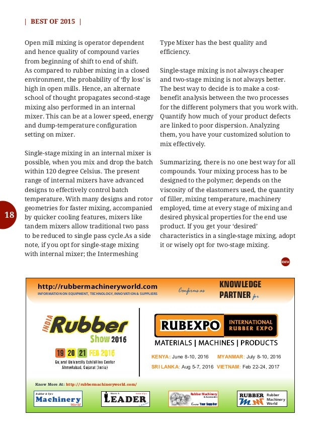 24   BEST OF 2015   Rubber  Tyre Machinery World DEC 2015  Top 15 Skills Required For an Internal Mixer (or Kneader) Opera...