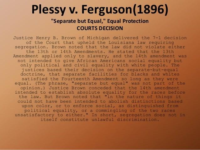 essays on plessy vs ferguson case