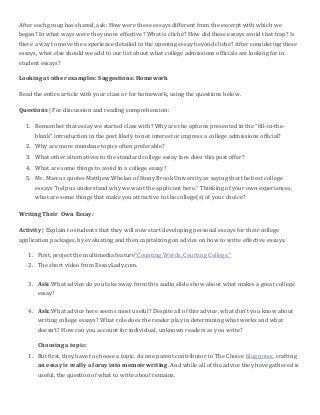 college essay lesson plans college essay lesson plan college essay ...