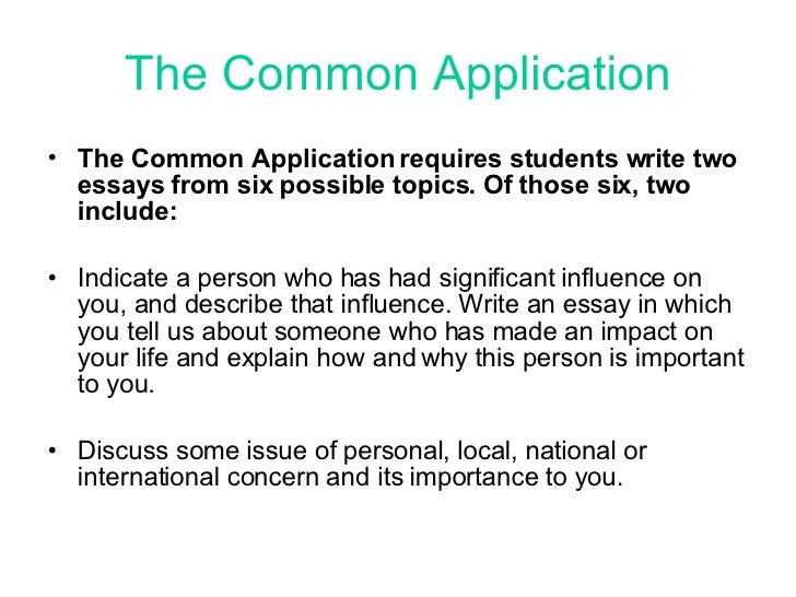 common app essay topic