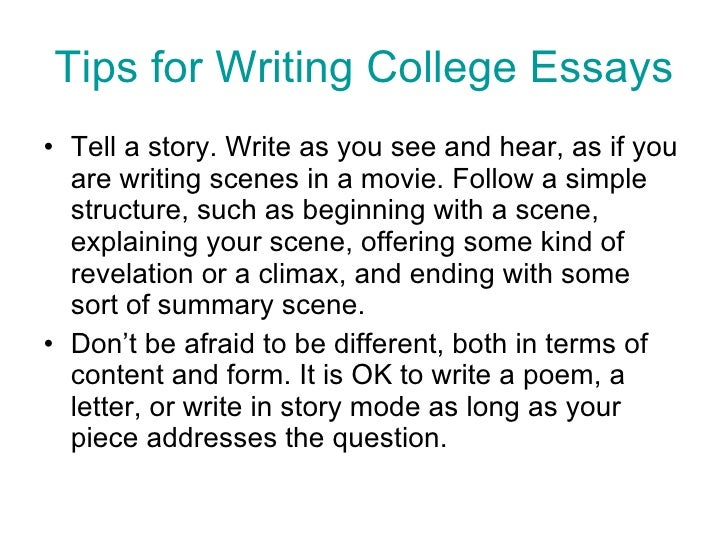 personal essay examples college