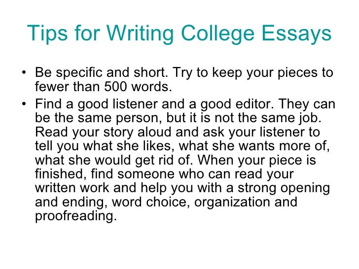 Tips for writing a research paper in college