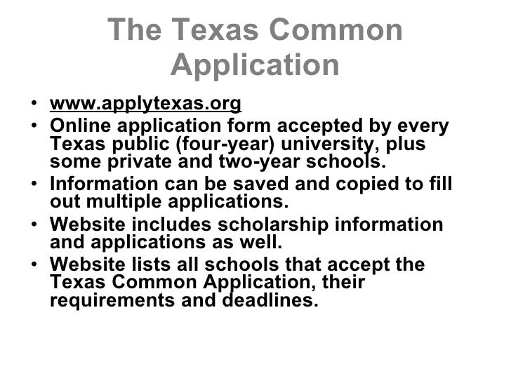 Apply texas essays