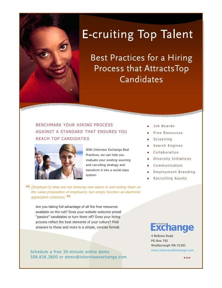 E-cruiting Top Talent                                          Best Practices for a Hiring                                ...