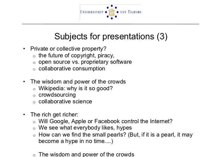 Group Presentation Topics 89