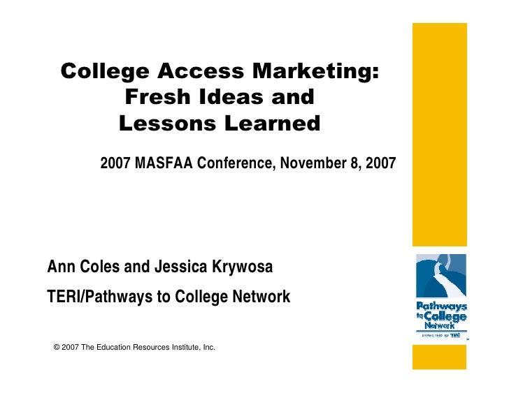                             2007 MASFAA Conference, November 8, 2...