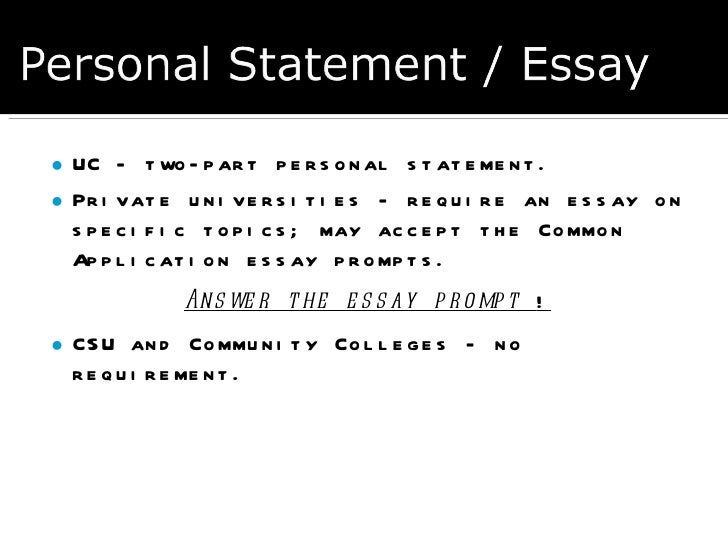 csu essay prompt California state university, long beach the personal statement application essay (psae) why the essay is so important.