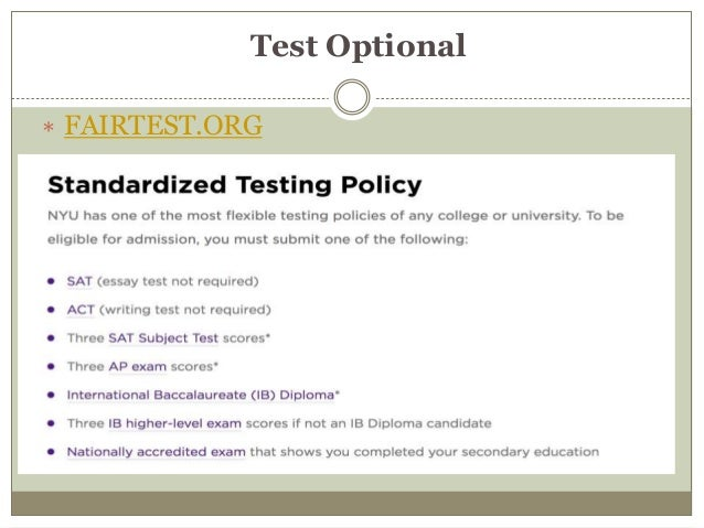 College Admissions Testing 2017 Juko November