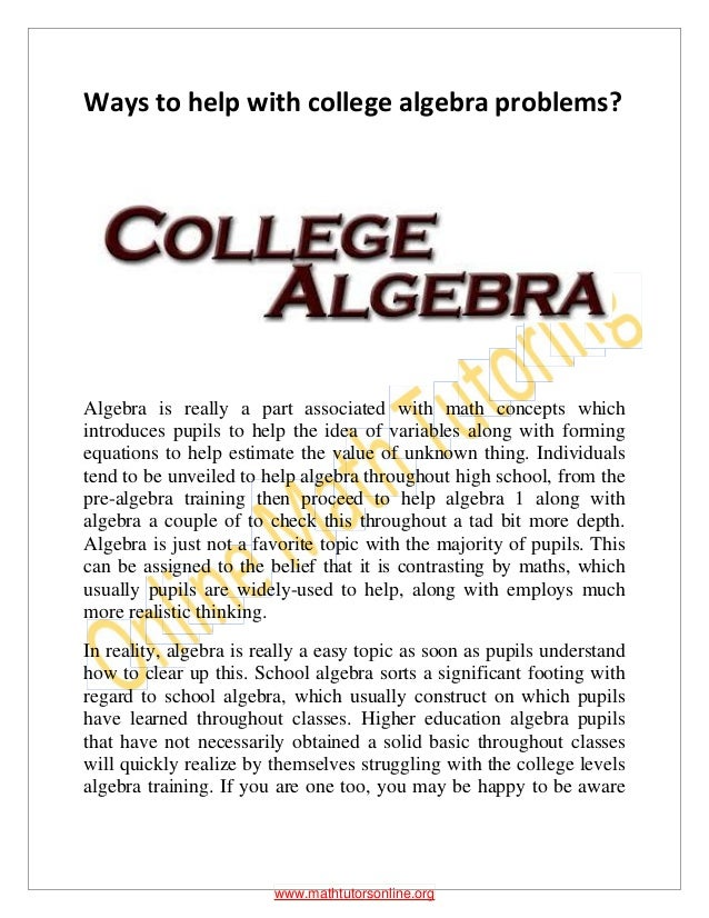 college math problems Math 1314 college algebra problems and answers fall 2010 lsc – north harris.