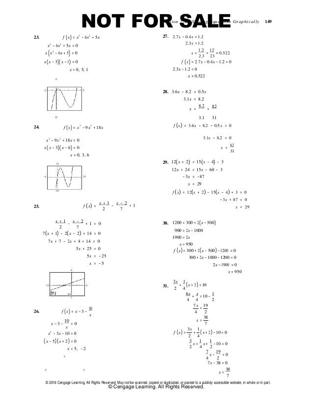College algebra real mathematics real people 7th edition