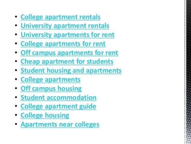 • College apartment rentals • University apartment rentals • University apartments for rent • College apartments for rent ...