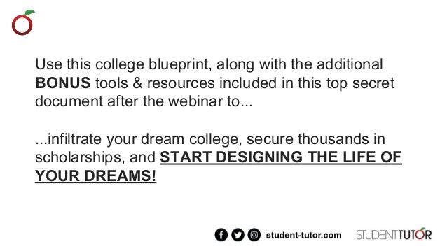 Top secret college planning blueprint 7 use this college blueprint malvernweather Image collections