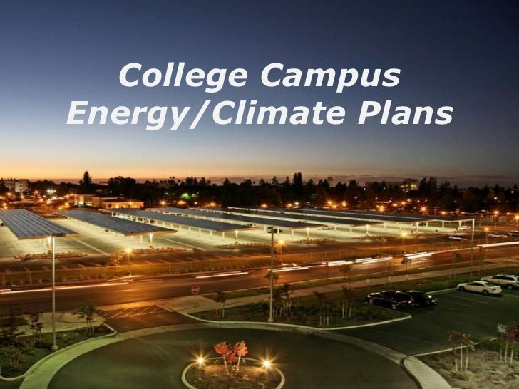 College Campus Energy/Climate Plans